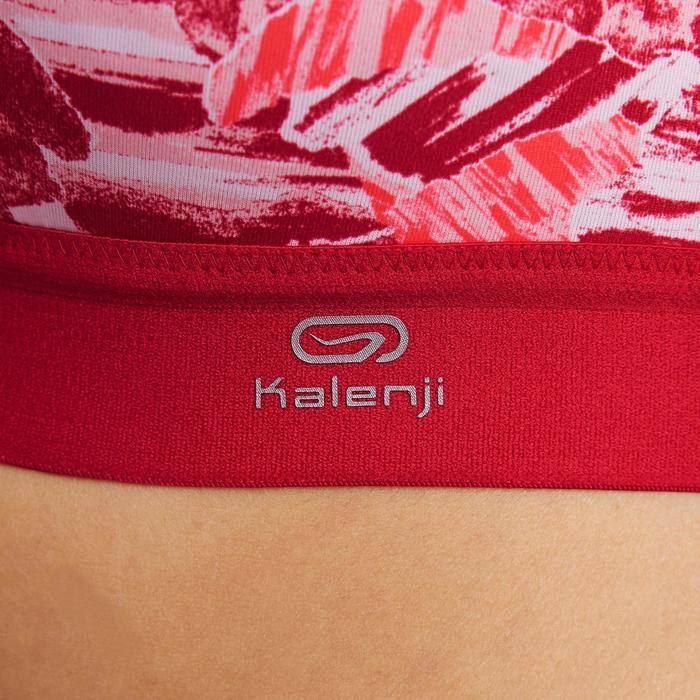 Hardloopbeha afstelbaar Rood en roze camouflage Kalenji