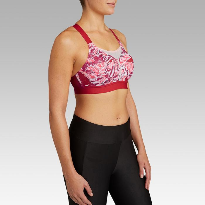 Sport-BH Bustier Komfort rot/rosa camouflage