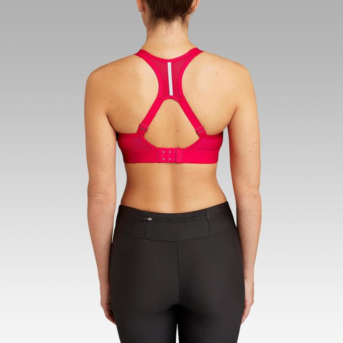 BRASSIERE DE RUNNING AJUSTABLE COQUEE ROUGE CHINé KALENJI