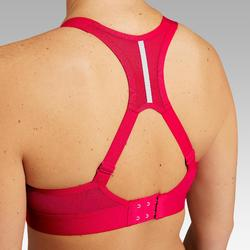 BRASSIERE DE RUNNING AJUSTABLE COQUEE ROUGE CHINé