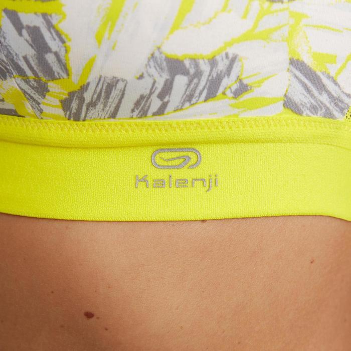Hardloopbeha afstelbaar Geel camouflage Gele bandjes Kalenji