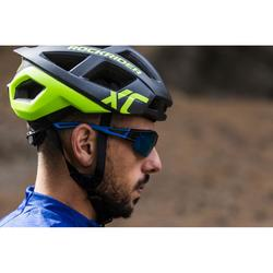 MTB helm XC cross country zwart/fluogeel