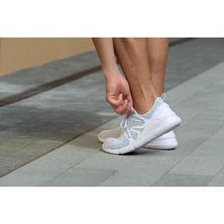 Herensneakers voor sportief wandelen PW 140 wit