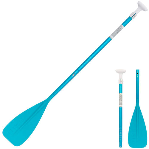 Pagaie paddle 100 demontable reglable 140-180 cm petits gabarits bleu