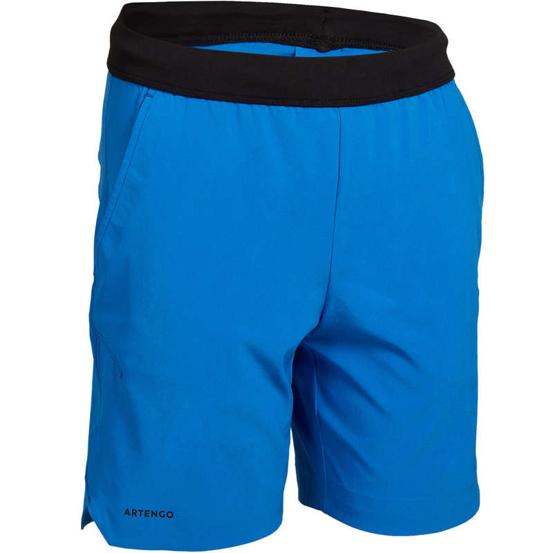 JUNIOR WARM APPAREL Squash - 900 Boys' Shorts - Blue ARTENGO - Squash Clothing