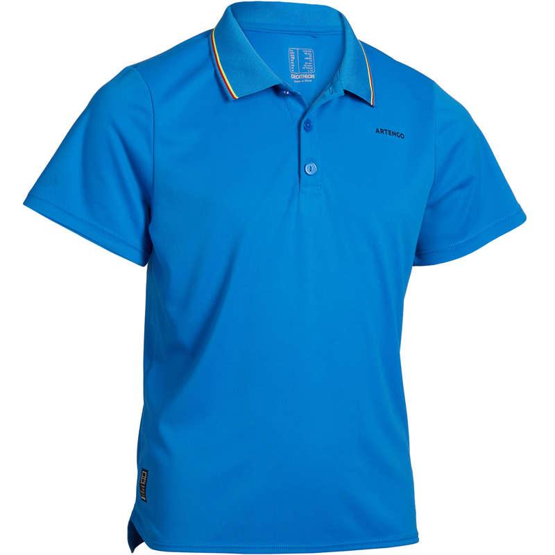 JUNIOR WARM APPAREL Tennis - 500 Kids' Polo - Blue ARTENGO - Tennis Clothes