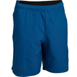Tennis-Shorts 500 Kinder petrolblau