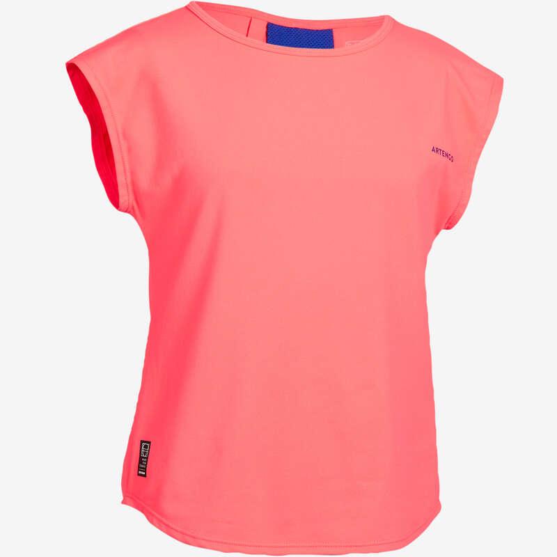 ABBIGLIAMENTO TUTTE LE STAGIONI JUNIOR Sport di racchetta - T-shirt bambina 500 rosa ARTENGO - Abbigliamento tennis