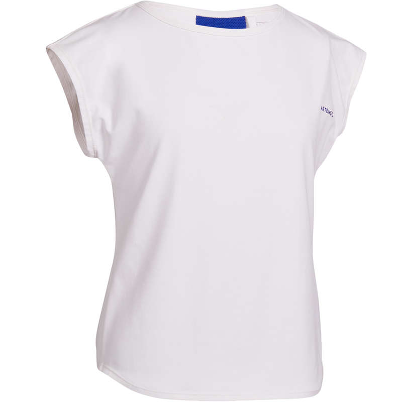 JUNIOR WARM APPAREL Squash - 500 Girls' T-Shirt ARTENGO - Squash Clothing