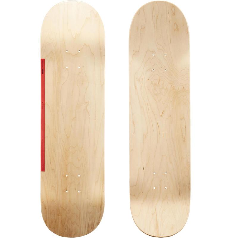 Tabla Skate DK100 8,5'' Color Madera Rojo Arce.