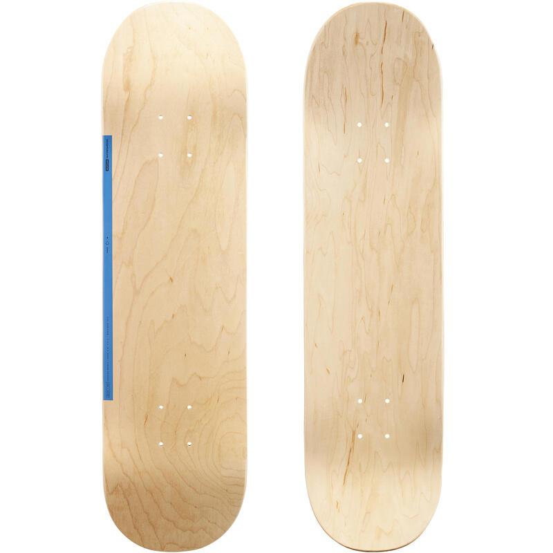 "Tabla Skate DK100 Color Madera/Azul Arce Tamaño 8,25"""
