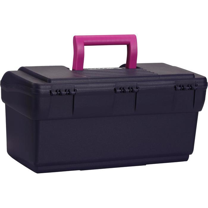 Mallette de pansage équitation GB 300 bleu marine et violet