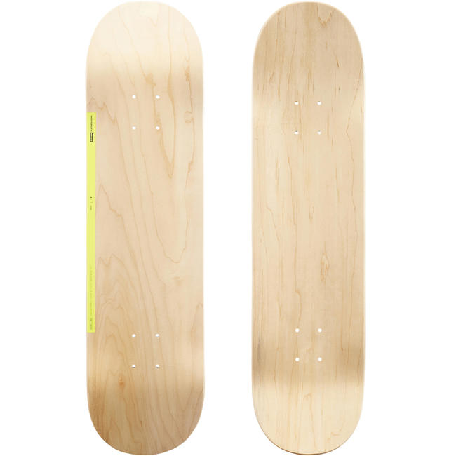 8_QUOTE_ Skateboard Deck 100 - Wood/Yellow