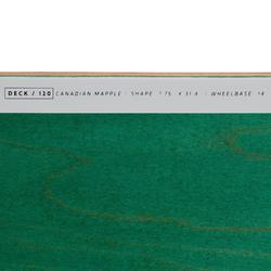 "Skateboard deck 120 maat 7.75"" groen"