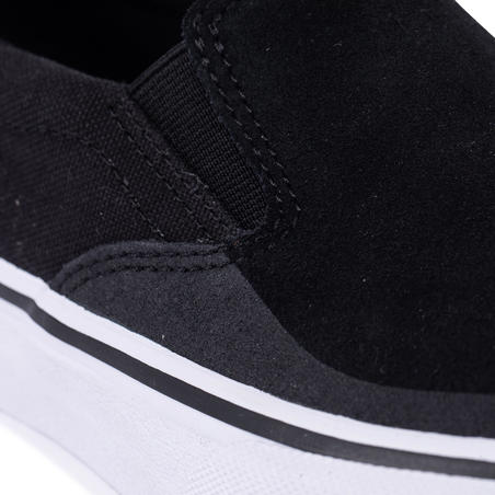 Vulca 500 Adult Low-Top Slip-On Skate Shoes - Black/White