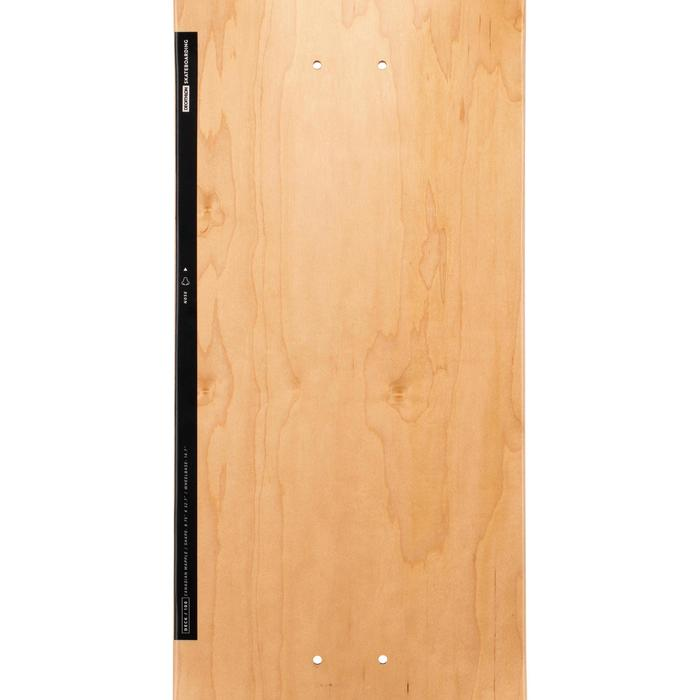 "Skateboard deck 100 maat 8.75"" houtkleur en zwart"
