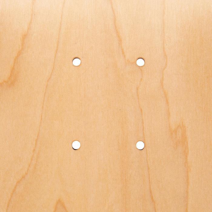 """Skateboard deck 100 maat 7.75"""" houtkleur en groen"""