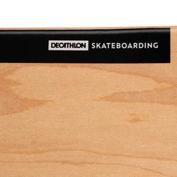 """Planche de skate DECK 100 taille 8.75"""" couleur Bois et noire."""