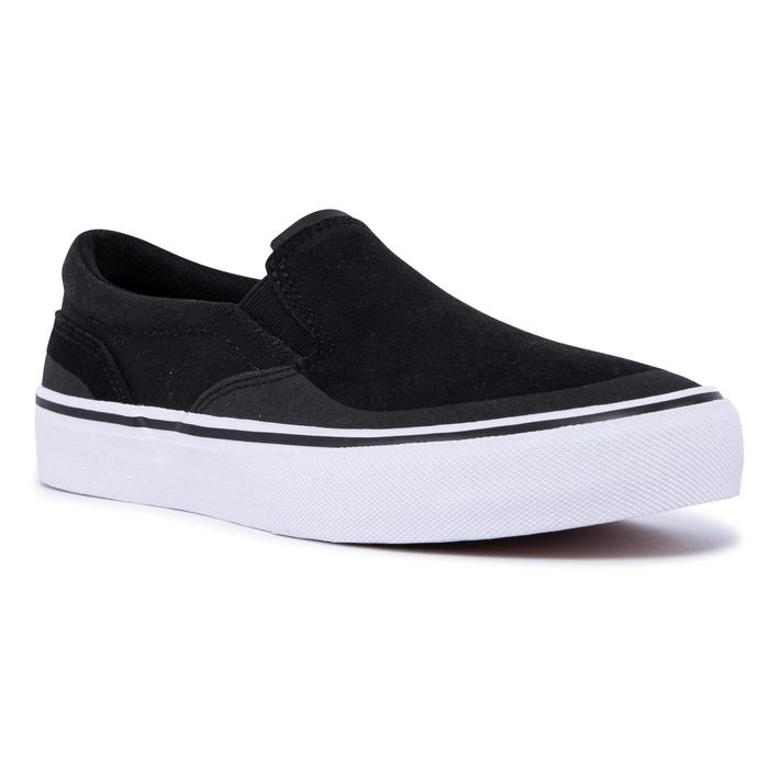 Lage slip-on skateschoenen voor volwassenen Vulca 500 zwart/wit
