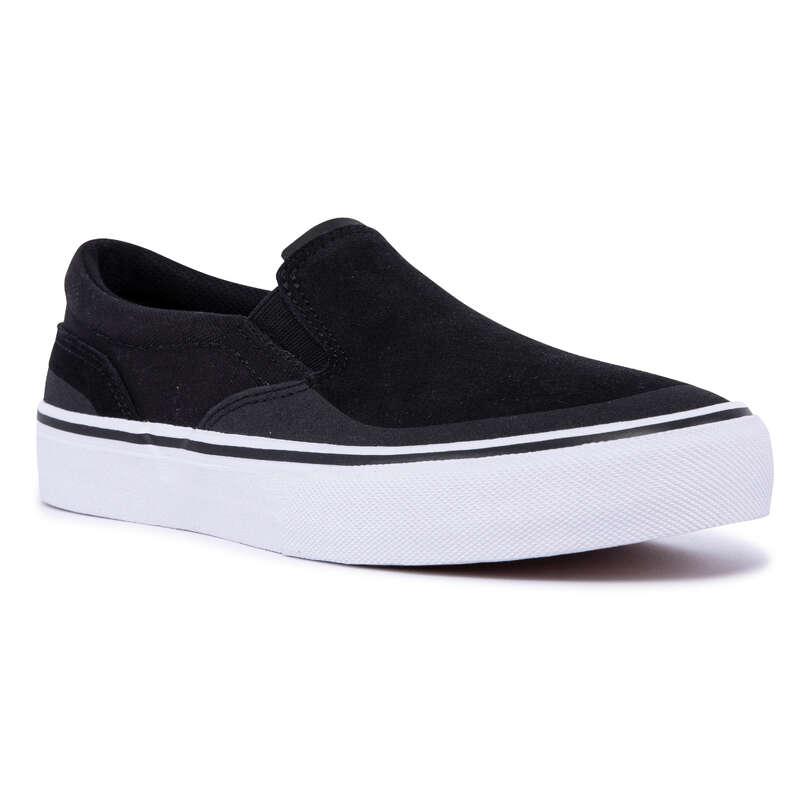 ADULT SKATEBOARD SHOES Skateboarding and Longboarding - Vulca 500 Slip-On - Black OXELO - Skateboarding and Longboarding