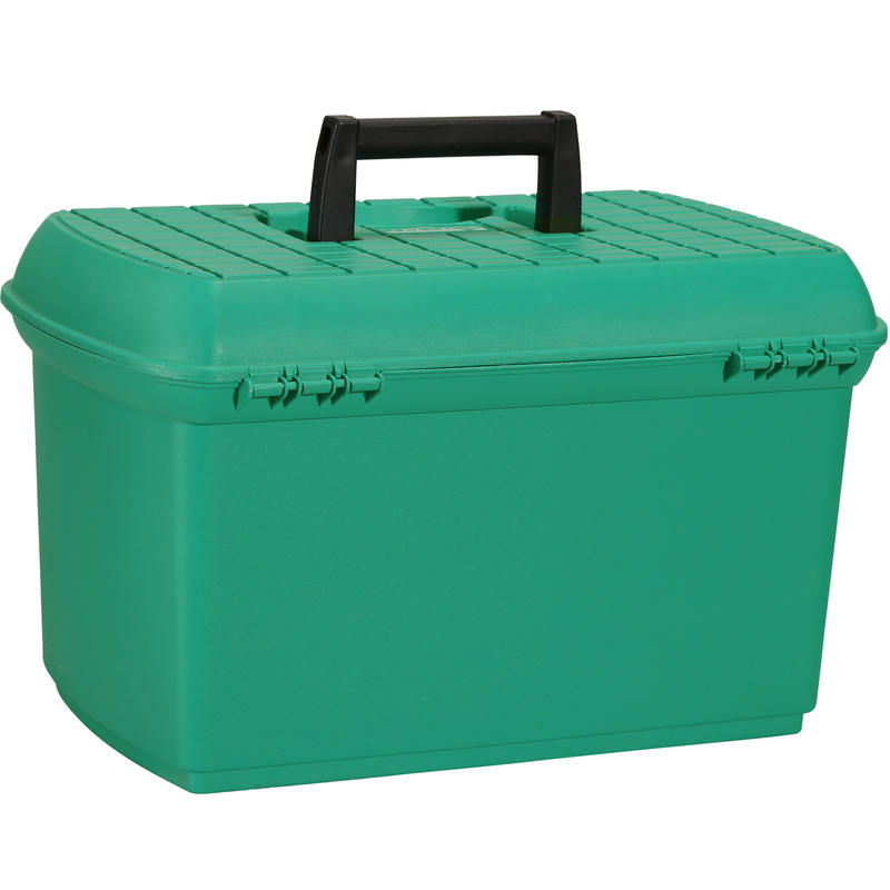 Mallette de pansage équitation GB 500 vert et noir