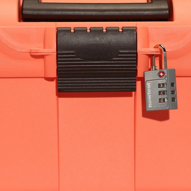 Mallette de pansage équitation GB300 orange fluo et marron