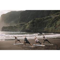 Dameslegging in biokatoen voor zachte yoga zwart / grijs