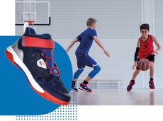 TARMAK_Chaussures_bleu_rouge_SP500