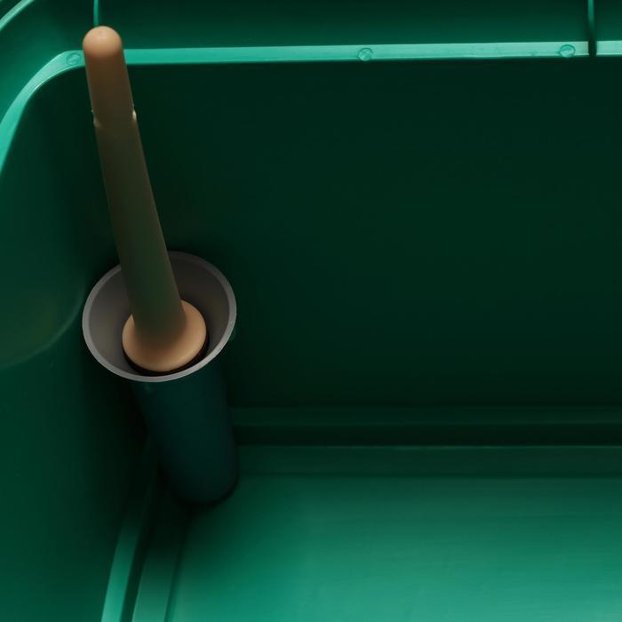 Maletín de limpieza equitación GB 500 verde y negro