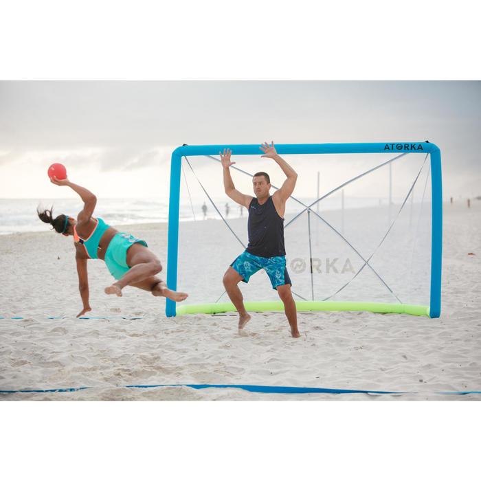 Aufblasbares Beachhandballtor HIG500 blau/gelb