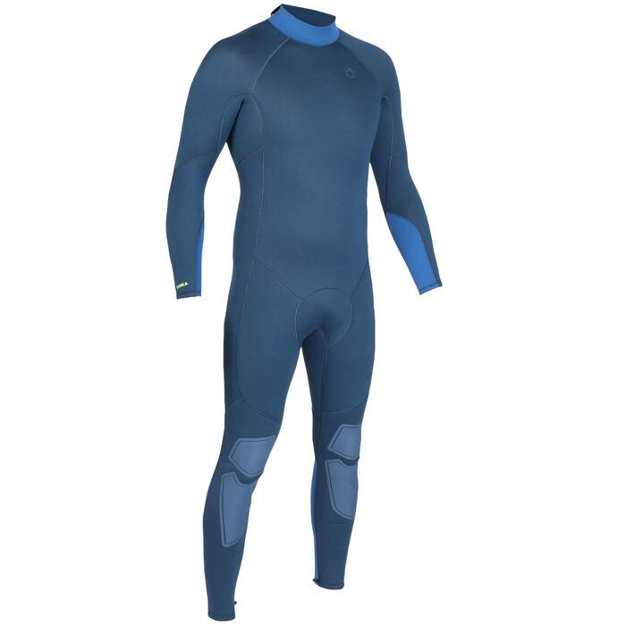 Traje Buceo Subea SCD 100 Hombre Neopreno 3MM Cierre Dorsal Azul