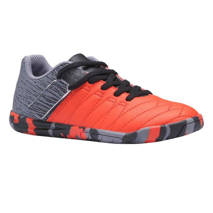 Zaalvoetbalschoenen kind CLR 500 klittenband rood