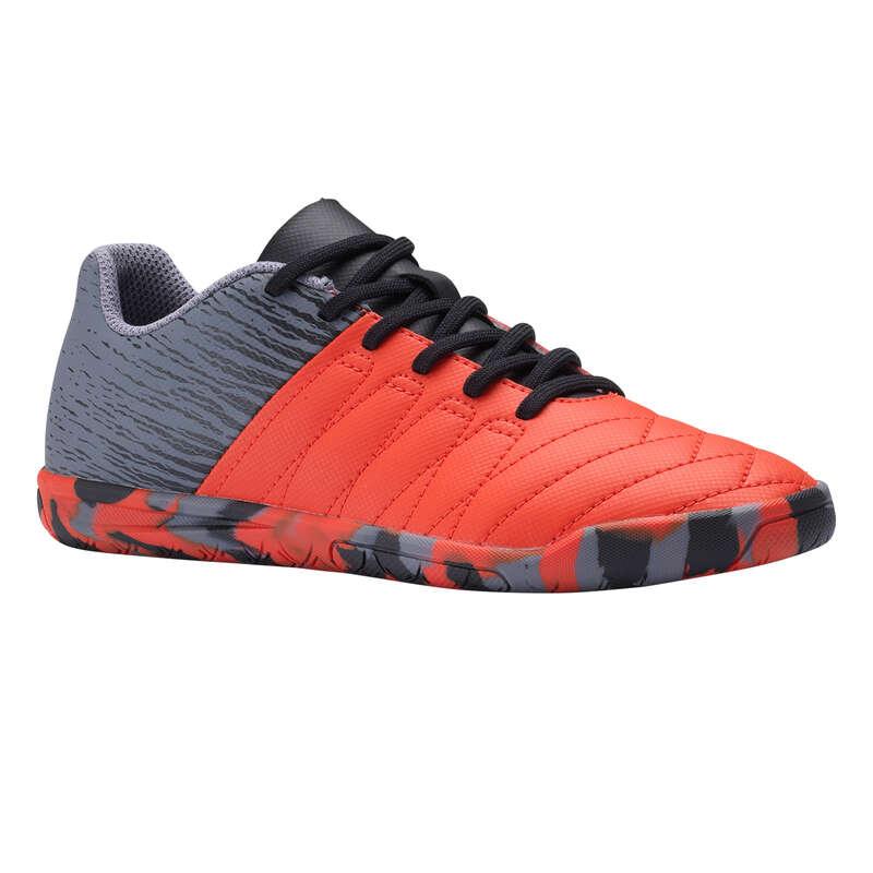 Buty halowe dla dzieci Piłka nożna - Buty CLR 500 futsal JR czerw. IMVISO - Sporty drużynowe
