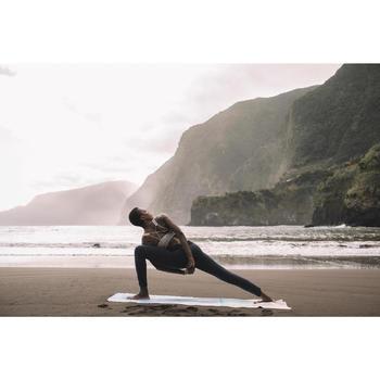 Dameslegging in biokatoen voor zachte yoga marineblauw