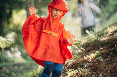 Children's Hiking poncho - MH100 KID - Navy Blue - age 2-6 years