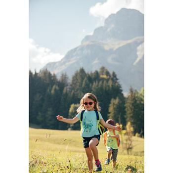 Chaussures de randonnée enfant avec scratch CROSSROCK imperméables vertes