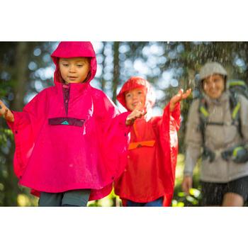 Poncho imperméable de randonnée - MH100 KID rose - enfant 2-6 ANS