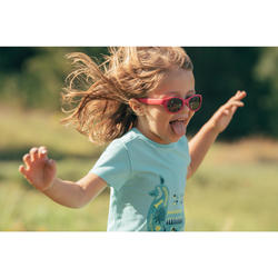 T-shirt de randonnée enfant MH100 turquoise