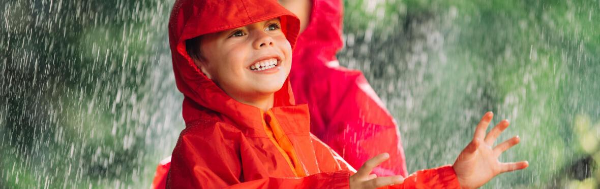 children over the rain