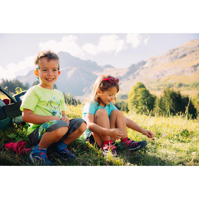 Wanderschuhe Crossrock Low mit Klettverschluss Kinder Jungen kaki