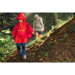 Poncho imperméable de randonnée enfant MH100 rouge