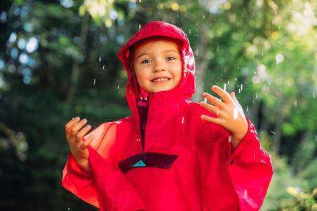 MH100 Waterproof Hiking Poncho - Kids