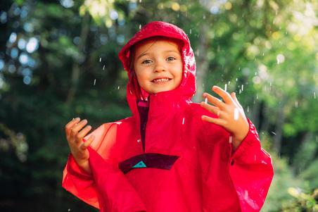 Waterproof hiking poncho - MH100 KID - children 2-6 YEARS