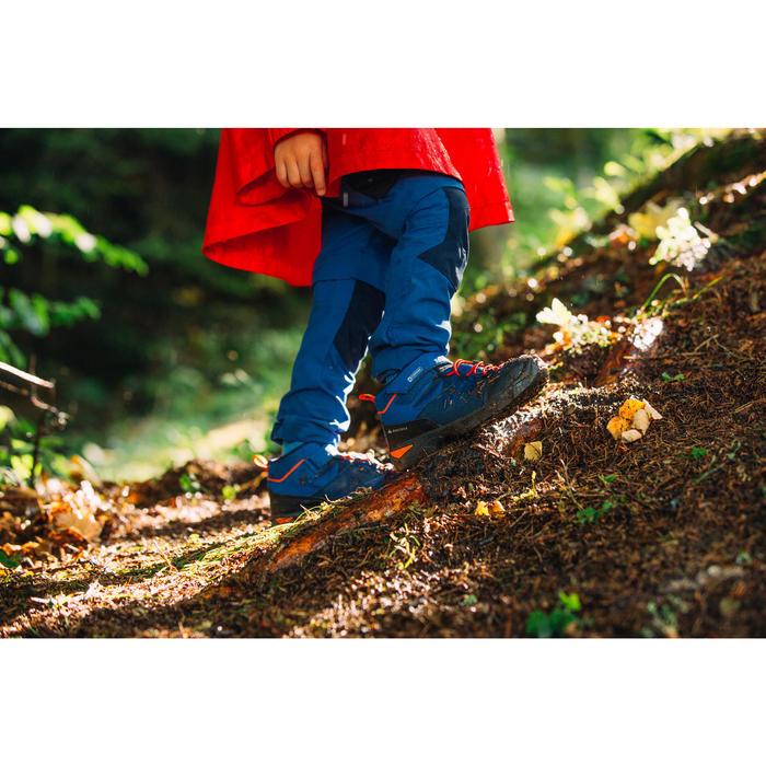 兒童款中筒健行鞋MH120-藍色(魔鬼氈,尺寸28到34號)