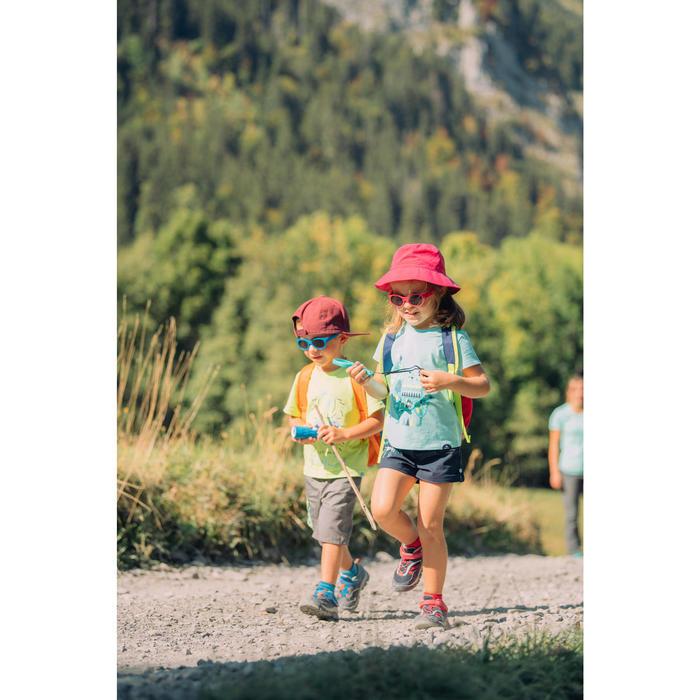 Lage bergwandelschoenen voor meisjes Crossrock klittenband turquoise