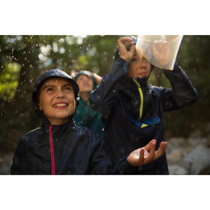 Wanderjacke MH100 wasserdicht Kinder marineblau/rosa