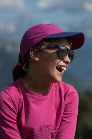 Children's Cat 3 hiking sunglasses 11-14 years MH T140 - purple