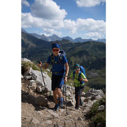 Wanderschuhe Crossrock Low mit Schnürung Kinder Jungen neongelb