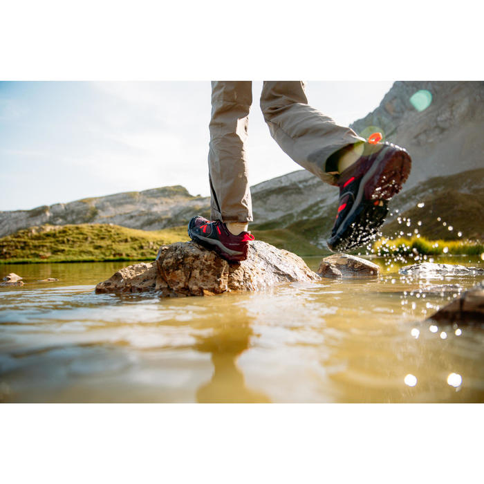 Wanderschuhe Crossrock Schnürsenkel wasserdicht Kinder lila