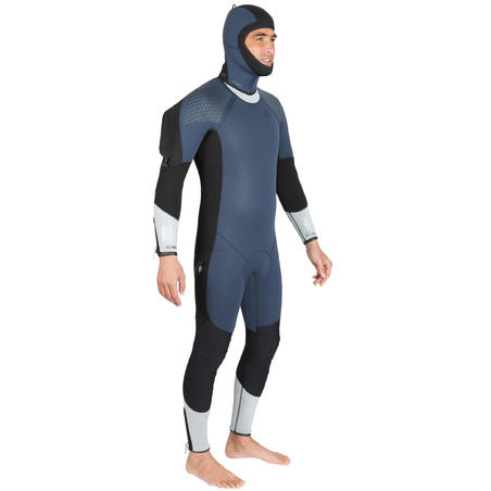Men's neoprene semi-dry SCD diving suit 500 7 mm for cold water